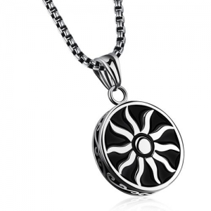 Yellow Chimes Powerful Sun Sign Stainless Steel Rhodium Stainless Steel Pendant