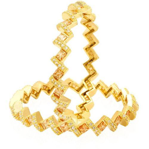 Jewels Galaxy Copper Bangle Set(Pack of 2)