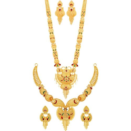 Mansiyaorange Alloy Jewel Set(Multicolor)