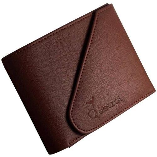Quetzal Men Casual Brown Genuine Leather Wallet(7 Card Slots)