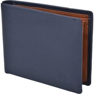 Bacca Bucci Men Blue, Tan Genuine Leather Wallet(3 Card Slots)