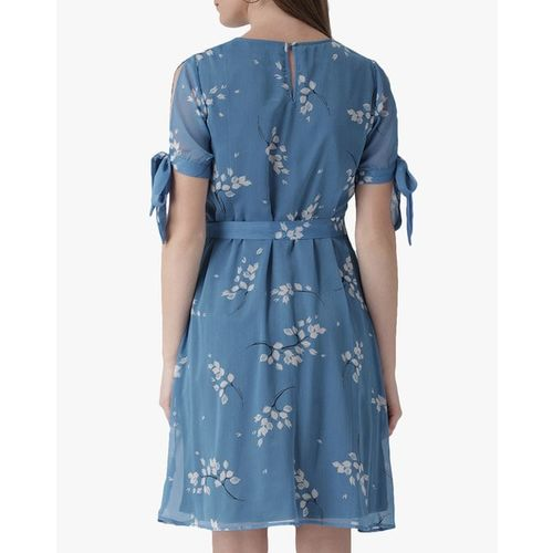 The Vanca Printed Skater Dress with Detachable Belt