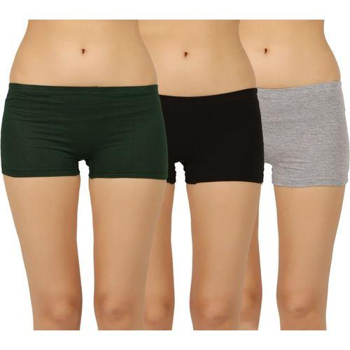Vaishma Women Boy Short Multicolor Panty(Pack of 3)