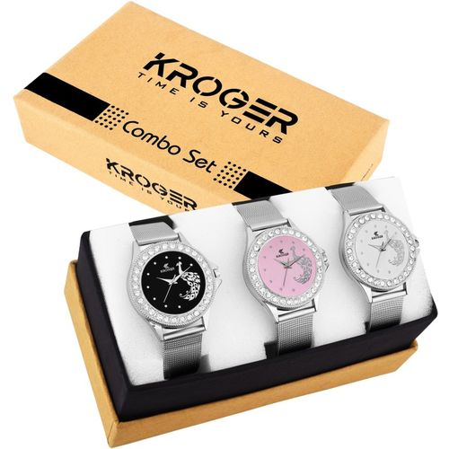KROGER KRL1311 Fashionable watches set of 3 combo Analog Watch - For Women