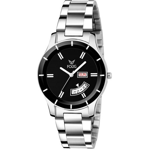 Fogg 4061-BK Black Day & Date Analog Watch - For Women
