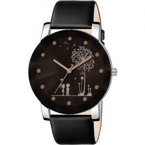 Shunya HK5030 Black Color Diamond Cut Glass Leather belt Analog Watch - For Women Analog Watch - For Women