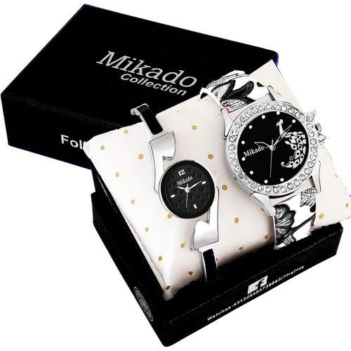Mikado All Black Fashion Analog watch for Girls And Women Analog Watch - For Women