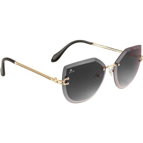 Aislin Cat-eye, Round Sunglasses(Black)