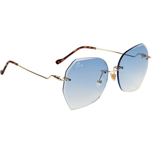 Aislin Over-sized, Round Sunglasses(Blue)