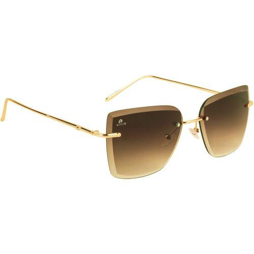 Aislin Wayfarer, Retro Square Sunglasses(Brown)