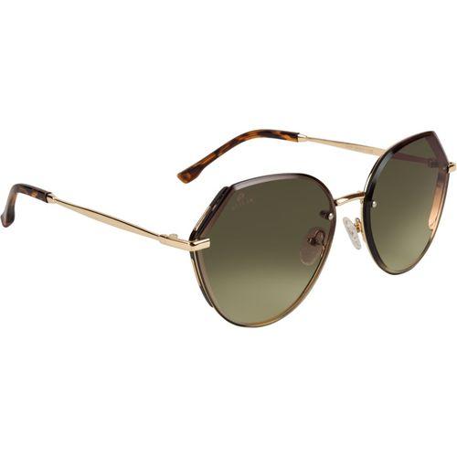 Aislin Oval Sunglasses(Brown)