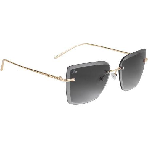 Aislin Wayfarer, Retro Square Sunglasses(Black)