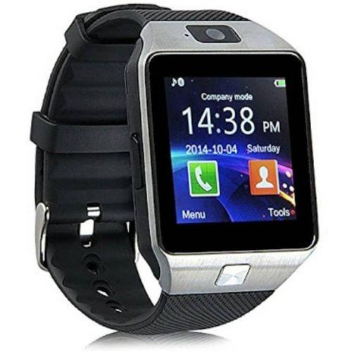 Speeqo DZ09  SP007 Silver Smartwatch(Black Strap Regular)