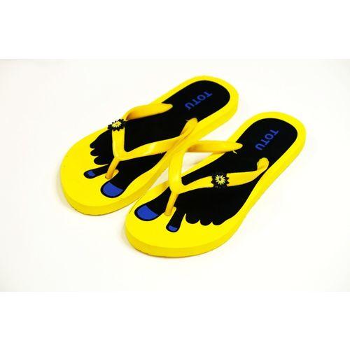 Alkon Yellow Rubber Slip-on Flip Flops