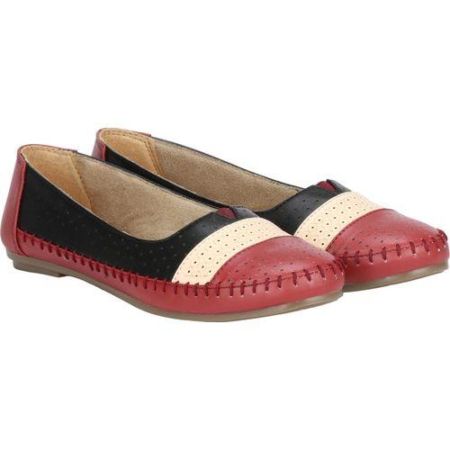 Imlu Loafers, Mocassin,Espadrilles,Party Wear,Jutis,Mojaris,slip on Bellies For Women(Maroon)