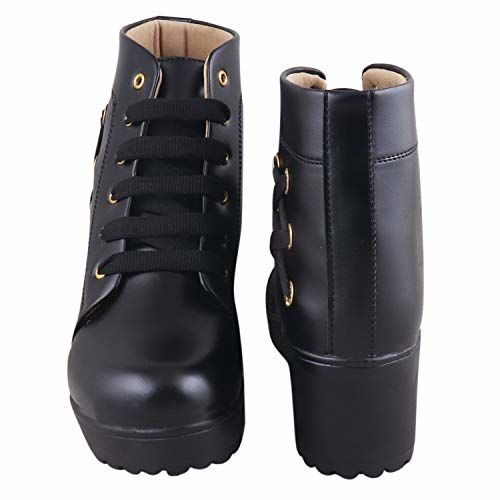 RINDAS Women's | Ladies | Females | Girls Comfortable, Synthetic Leather, Boots College Casual Boots