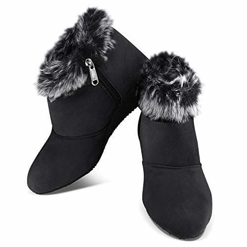 Cattz Ankle Length Black Casual Boots
