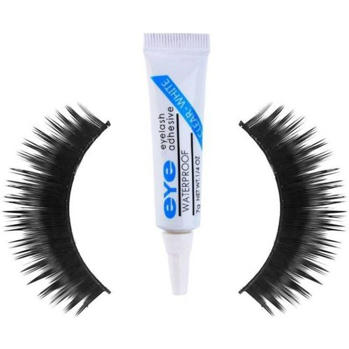 Rtb Eyelashes pack of 1 with Eyelash Adhesive Glue 7g(2 Items in the set)