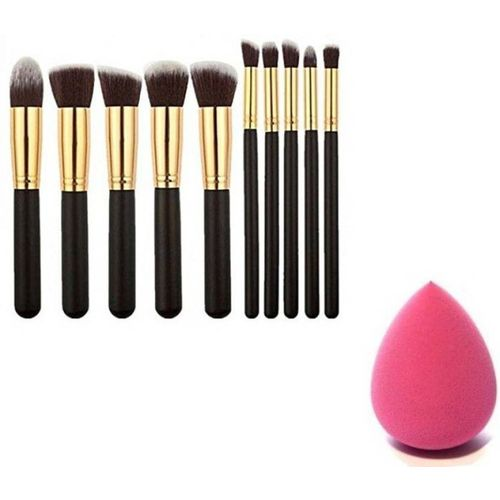Katti Del Coco Makeup Brushes Set Tool Pro Foundation Eyeliner Eyeshadow(11 Items in the set)