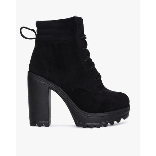 CATWALK Textured Lace-Up Lita Boots