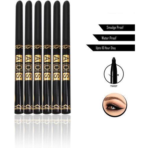 ADS Classic Smudge & Waterproof Eye Pencil(Black, 6 g)