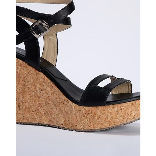 Marc Loire Textured Slingback Wedges with Cutouts