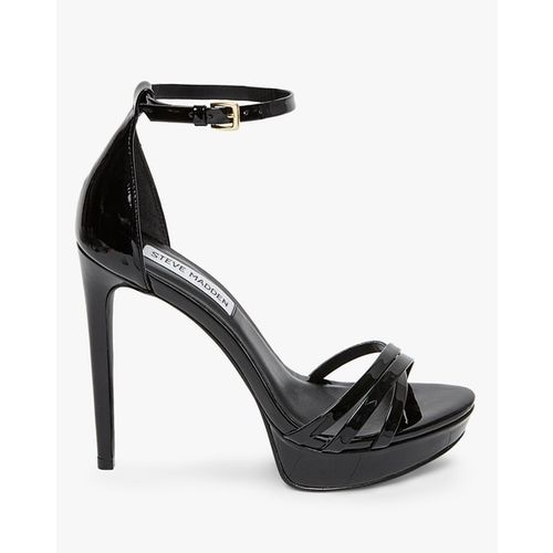 STEVE MADDEN Genuine Leather Strappy Stilettos with Ankle Strap