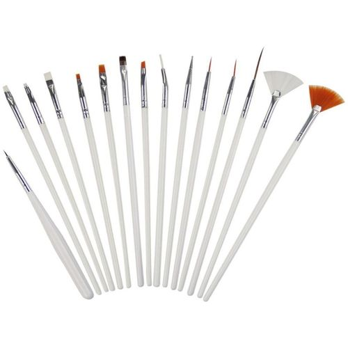 Ritzkart 15 Pc Nail Art Brush kit for Nail Crafts(white)