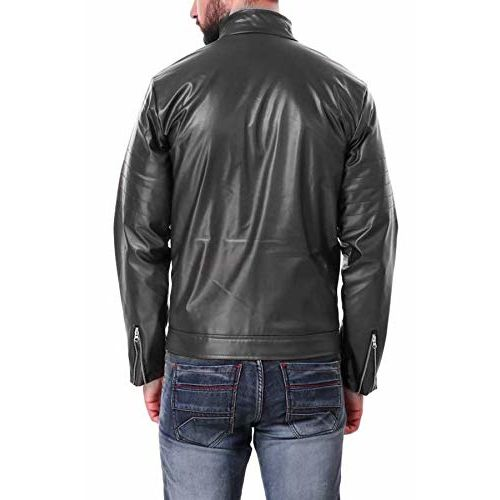Banter Men's Faux Leather Jacket (Black)