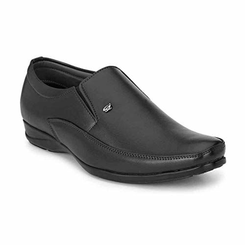 Anshul fashion Men's Remo Black Formal Shoes Leather Formal Shoes
