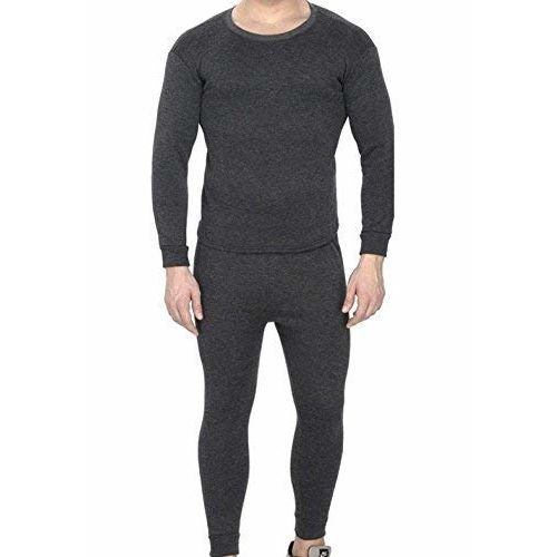 Younky Men's Full Sleeves Thermal Top & Bottom (TH-2016_Black_Free Size)