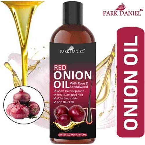 Park Daniel 100% Pure & Natural RED ONION OIL- For Hair Regrowth & Anti Hair fall Hair Oil(100 ml)