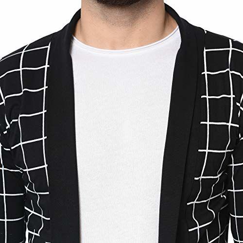 DENIMHOLIC Checks Men's Fullsleeve Cotton Shrug Cardigan