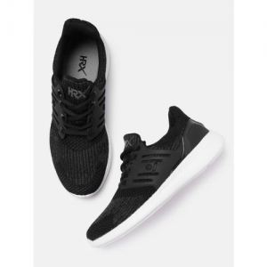 HRX by Hrithik Roshan Men Black Solid Running Shoes