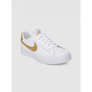 Nike Women White Court Royale AC Leather Tennis Shoes