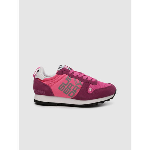 Superdry Women Pink Textile Running Shoes