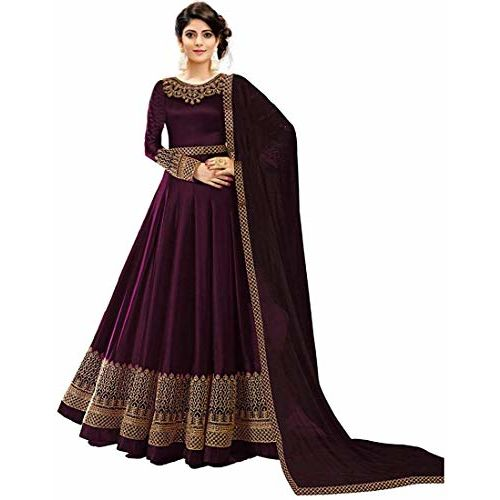 Fast Fashions  Faux Georgette Semi-stitched Anarkali Gown