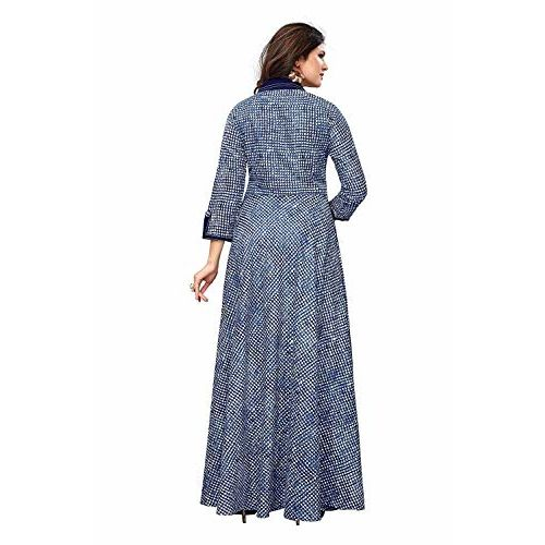 INFOTECH Women's REYON Digital Printed Anarkali Long STICHED Gown