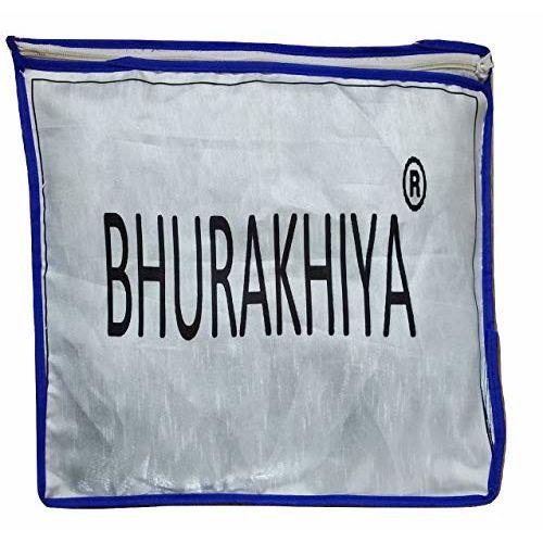Bhurakhiya Women's Jacquard Taffeta Silk Bridal Gowns (BH2156, Blue, Free Size)