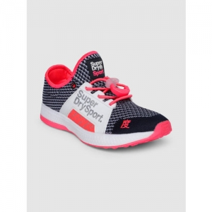 Superdry Women Navy Blue & White Running Shoes