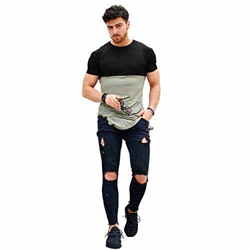 Urban Army Grey and Black Round Neck Apple Cut Tshirts for Men Half Sleeve