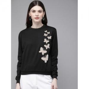 SASSAFRAS Black Printed Sweatshirt