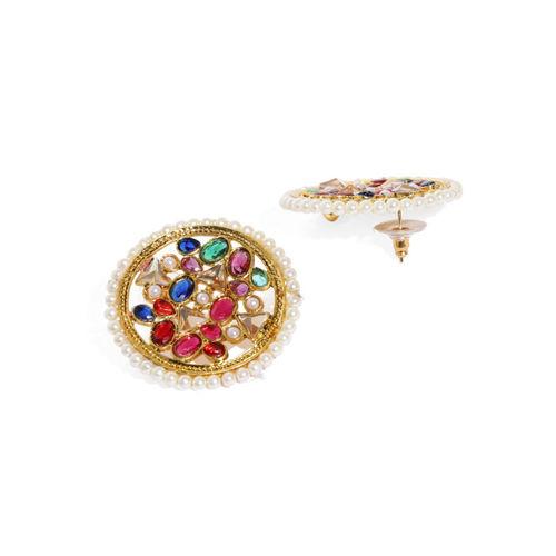 Zaveri Pearls Multicoloured Circular Studs
