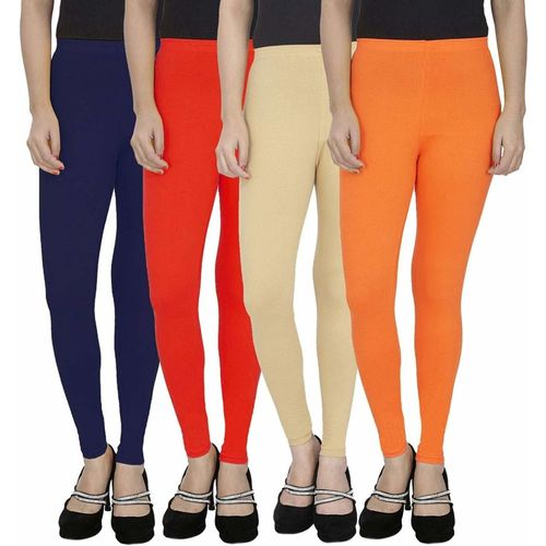 Swastik Stuffs Ankle Length Legging(Dark Blue, Red, Beige, Orange, Solid)
