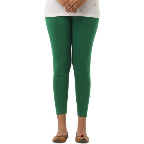 Era Life Ankle Length Legging(Green, Solid)
