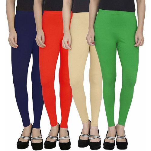 Swastik Stuffs Ankle Length Legging(Dark Blue, Red, Beige, Green, Solid)