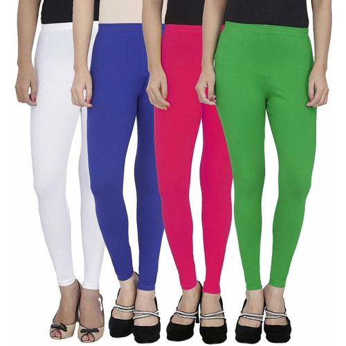 SwaNit Ankle Length Legging(White, Blue, Pink, Green, Solid)