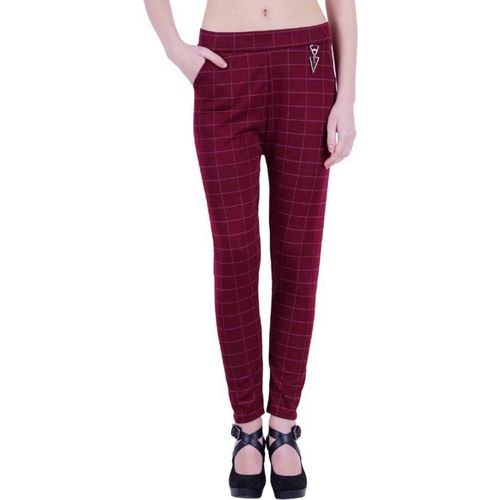 MHR FASHION Maroon Jegging(Solid)