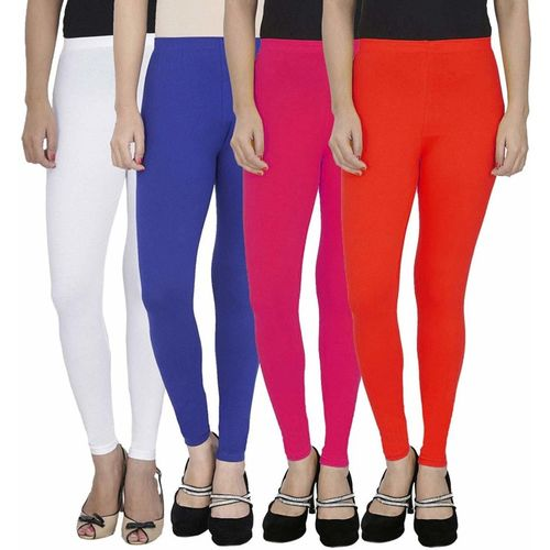 Swastik Stuffs Ankle Length Legging(White, Blue, Pink, Red, Solid)