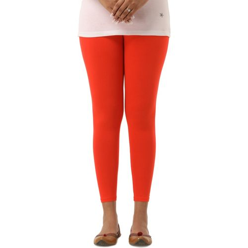 Era Life Ankle Length Legging(Orange, Solid)
